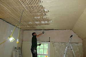 Ceiling with lath and plaster work suffolk.