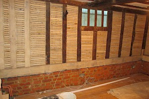 Lath and plaster restoration in Historic Building Suffolk