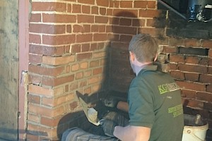 Brickwork repairs as part of restoration project Essex
