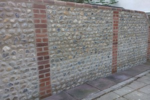 Completed Brickwork restoration to outside wall in Suffolk.